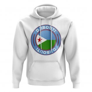 Djibouti Football Badge Hoodie (White)