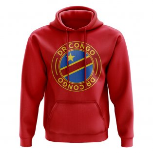 DR Congo Football Badge Hoodie (Red)