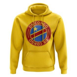 Dr Congo Football Badge Hoodie (Yellow)