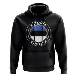 Estonia Football Badge Hoodie (Black)