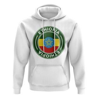 Ethiopia Football Badge Hoodie (White)