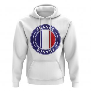 France Football Badge Hoodie (White)