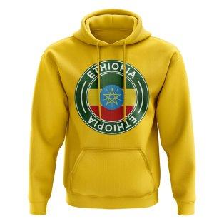 Ethiopia Football Badge Hoodie (Yellow)