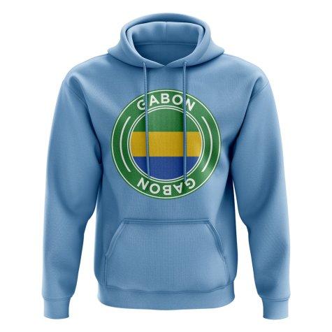 Gabon Football Badge Hoodie (Sky)