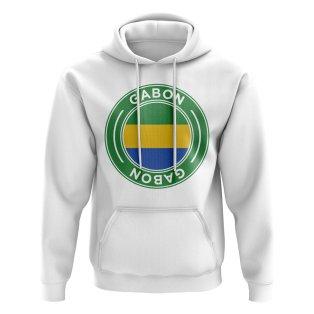 Gabon Football Badge Hoodie (White)