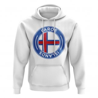 Faroe Islands Football Badge Hoodie (White)