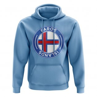 Faroe Islands Football Badge Hoodie (Sky)