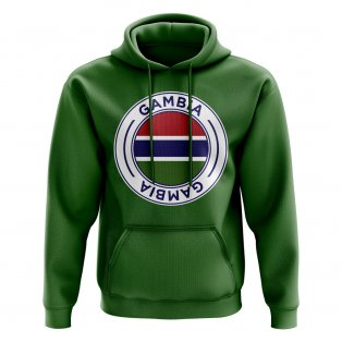 Gambia Football Badge Hoodie (Green)