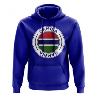 Gambia Football Badge Hoodie (Royal)