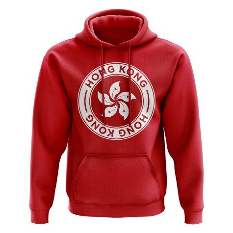 Hong Kong Football Badge Hoodie (Red)