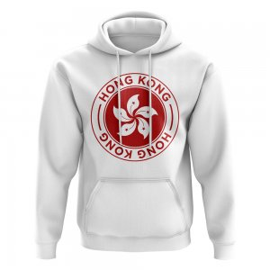 Hong Kong Football Badge Hoodie (White)