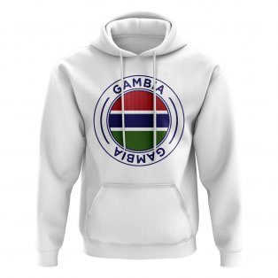 Gambia Football Badge Hoodie (White)