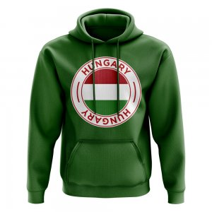 Hungary Football Badge Hoodie (Green)