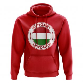 Hungary Football Badge Hoodie (Red)