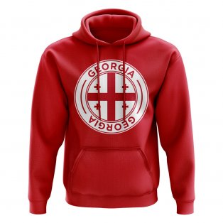 Georgia Football Badge Hoodie (Red)