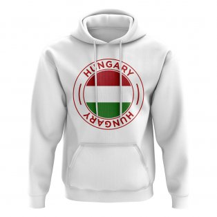 Hungary Football Badge Hoodie (White)