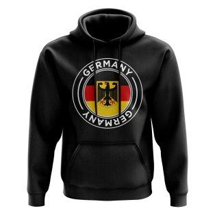 Germany Football Badge Hoodie (Black)
