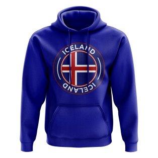 Iceland Football Badge Hoodie (Royal)
