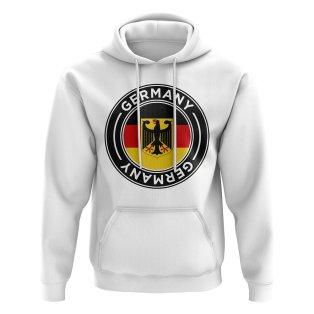 Germany Football Badge Hoodie (White)