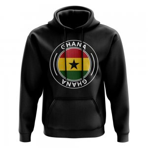 Ghana Football Badge Hoodie (Black)