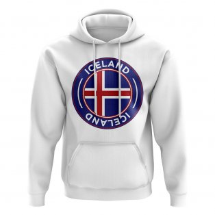 Iceland Football Badge Hoodie (White)