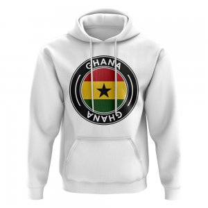 Ghana Football Badge Hoodie (White)