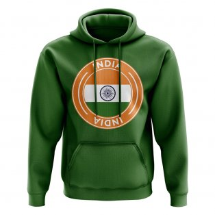 India Football Badge Hoodie (Green)