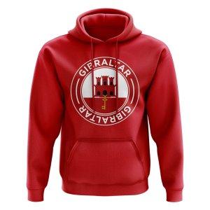 Gibraltar Football Badge Hoodie (Red)