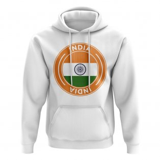 India Football Badge Hoodie (White)