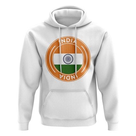 India Football Badge Hoodie (White)