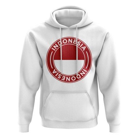 Indonesia Football Badge Hoodie (White)