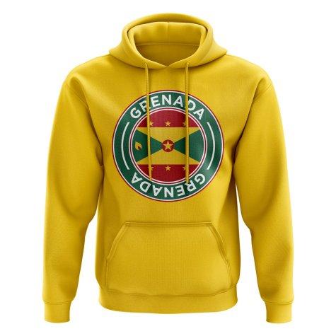 Grenada Football Badge Hoodie (Yellow)