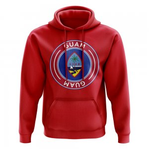 Guam Football Badge Hoodie (Red)