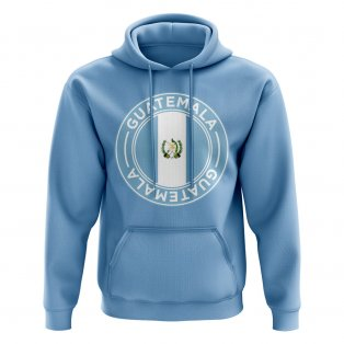 Guatemala Football Badge Hoodie (Sky)