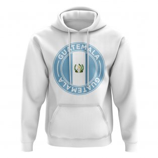 Guatemala Football Badge Hoodie (White)