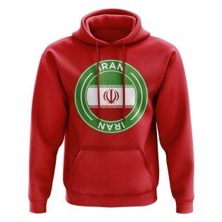 Iran Football Badge Hoodie (Red)