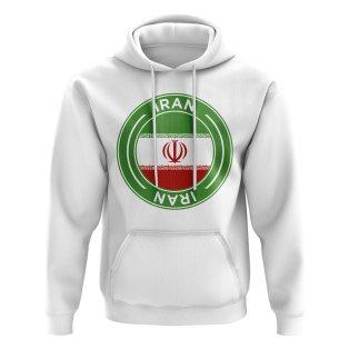 Iran Football Badge Hoodie (White)