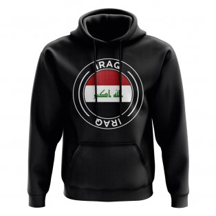 Iraq Football Badge Hoodie (Black)