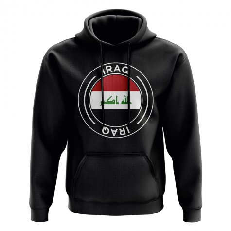 Iraq Football Badge Hoodie (Black)