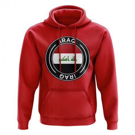 Iraq Football Badge Hoodie (Red)