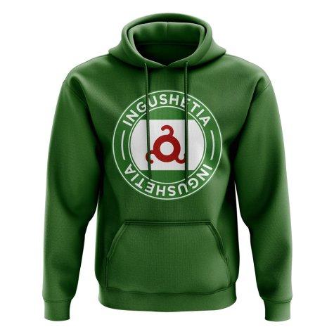 Ingushetia Football Badge Hoodie (Green)
