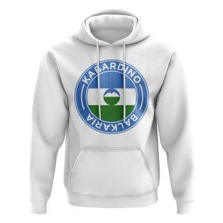 Kabardino-Balkaria Football Badge Hoodie (White)