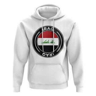 Iraq Football Badge Hoodie (White)