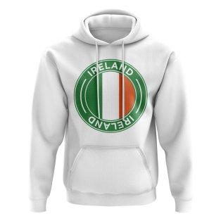 Ireland Football Badge Hoodie (White)