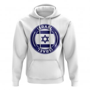 Israel Football Badge Hoodie (White)