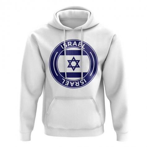 Israel Football Badge Hoodie (White)