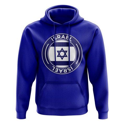 Israel Football Badge Hoodie (Royal)