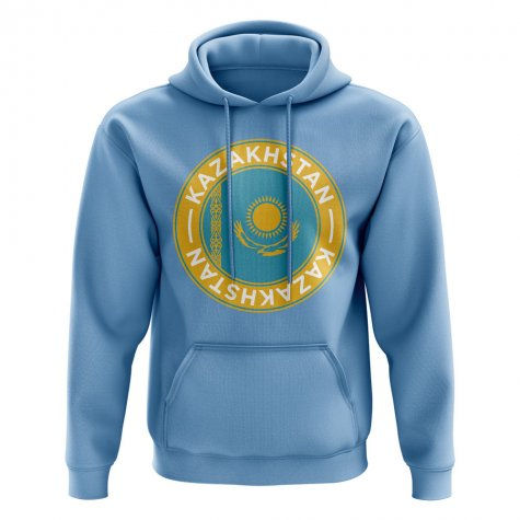 Kazakhstan Football Badge Hoodie (Sky)