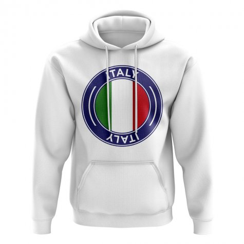 Italy Football Badge Hoodie (White)