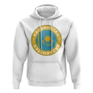 Kazakhstan Football Badge Hoodie (White)